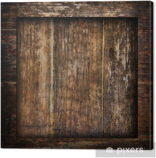 Tableau sur toile Planche de bois vieux - Industrie lourde