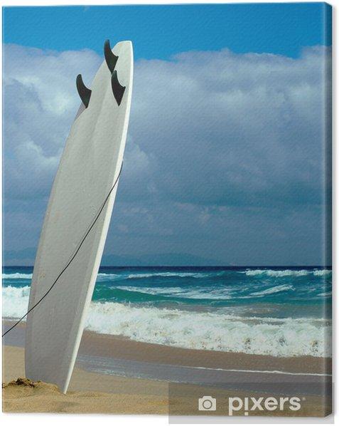 Tableau sur toile Planche de surf sur la plage de Fuerteventura - Europe