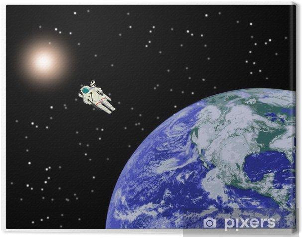 Tableau sur toile Planète Terre - Système solaire - l'astronomie - Espace