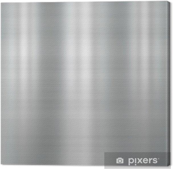 Tableau sur toile Plaque de métal brossé - Styles