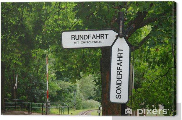 Tableau sur toile Plaque ferroviaire Leipzig - Temps