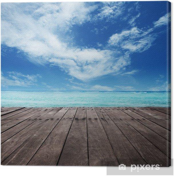Tableau sur toile Plate-forme à côté de la mer - Thèmes