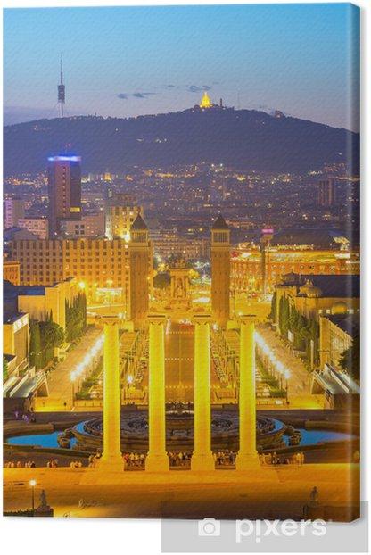 Tableau sur toile Plaza Espana Barcelone - Thèmes