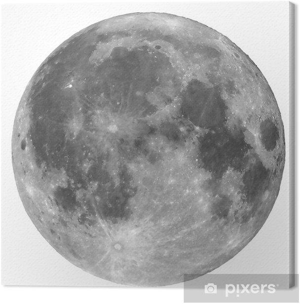 Tableau sur toile Pleine lune isolé - Espace