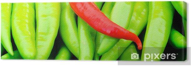 Tableau sur toile Poivrons rouges et verts - Repas