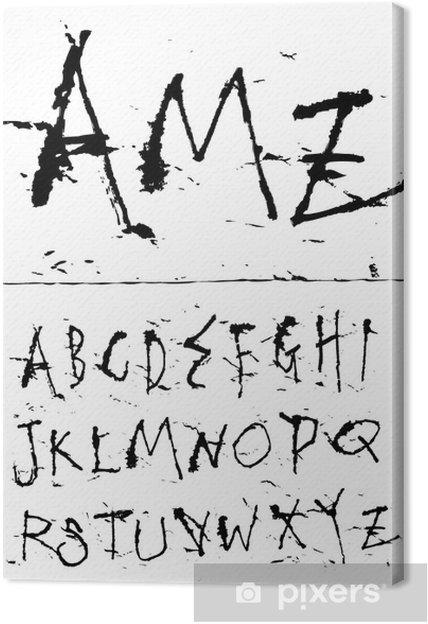 Tableau sur toile Police encre d'écriture à la main - Thèmes