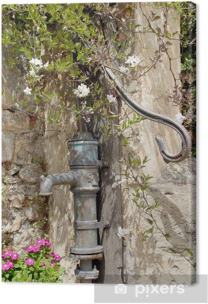 Tableau sur toile Pompe à bras - pompe à eau - Vacances