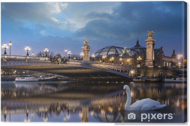 Tableau sur toile Pont Alexandre III et Grand Palais - Villes européennes