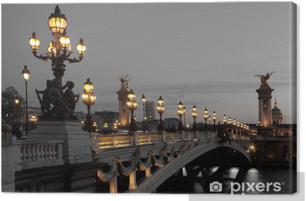 Tableau sur toile Pont Alexandre III, Paris, France - Thèmes