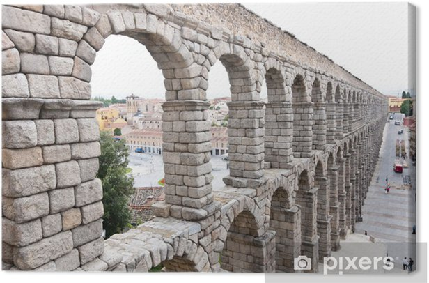 Tableau sur toile Pont-aqueduc romain de Ségovie, premier siècle de notre ère. - Europe