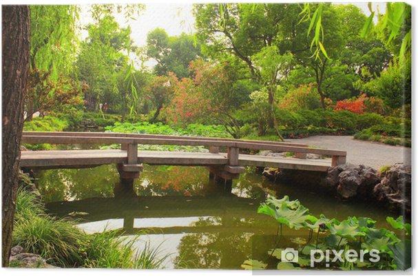 Tableau sur toile Pont dans le jardin de l'Humble Administrateur à Suzhou, en Chine - Asie