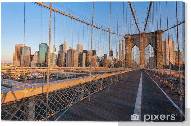 Tableau sur toile Pont de Brooklyn à New York - Thèmes