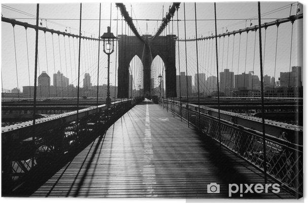 Tableau sur toile Pont de Brooklyn, Manhattan, New York City, USA -
