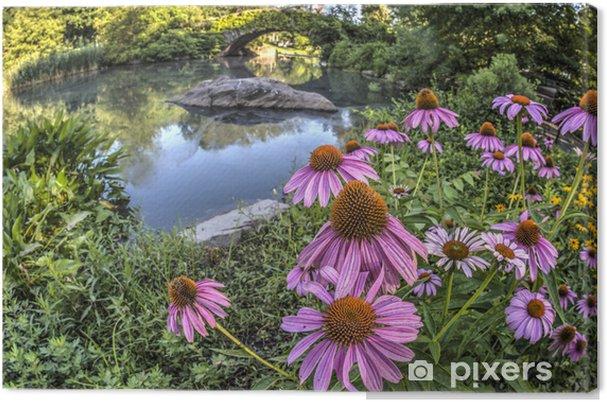 Tableau sur toile Pont de Gapstow Central Park, New York City - Amérique