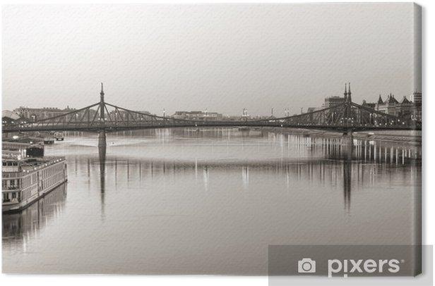 Tableau sur toile Pont de la Liberté - Budapest - Europe
