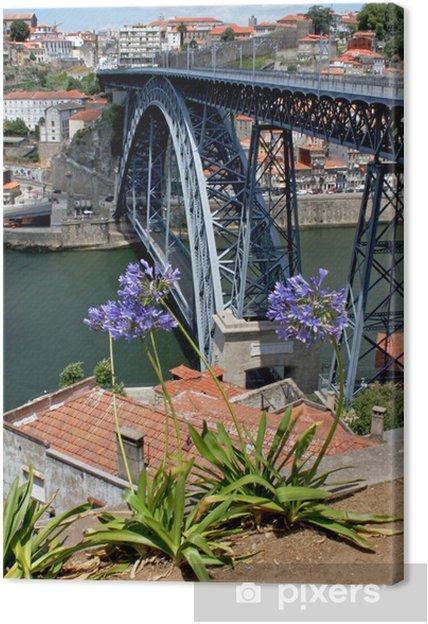 Tableau sur toile Pont Dom Luis à Porto - Infrastructures