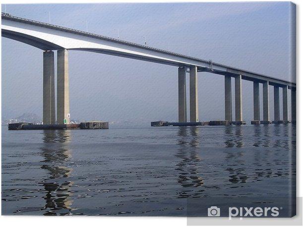 Tableau sur toile Pont Rio-Niteroi - Sur la route
