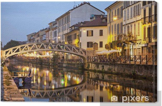 Tableau sur toile Pont sur le canal Naviglio Grande - Thèmes