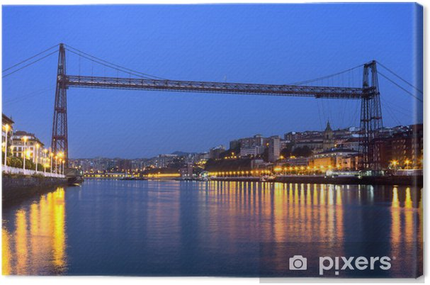 Tableau sur toile Pont suspendu entre Portugalete et Getxo. Vizcaya, Co Basque - Europe