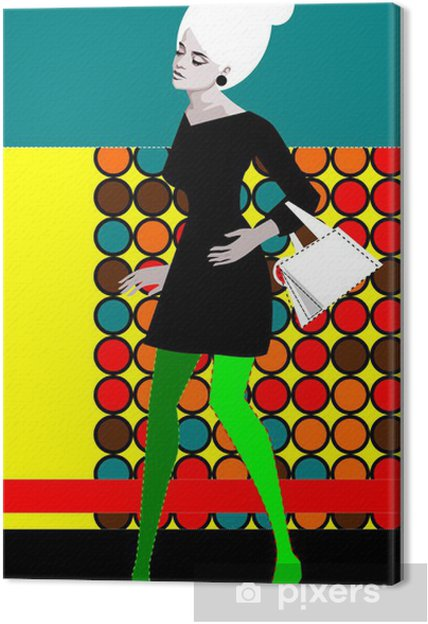 Tableau sur toile Pop'art - Destin
