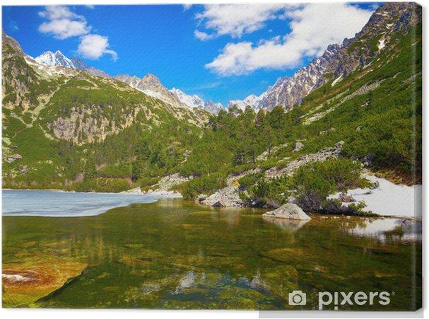 Tableau sur toile Popradske pleso. lac de montagne dans le parc national des Hautes Tatras - Thèmes