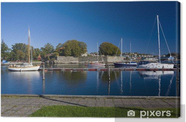 Tableau sur toile Port de Kristiansand, Norvège - Europe