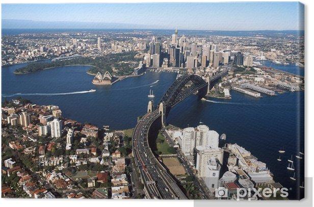 Tableau sur toile Port de sydney 001 - Paysages urbains