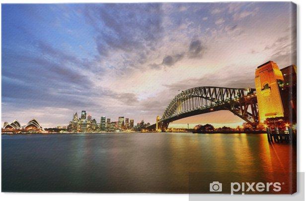 Tableau sur toile Port de Sydney Panorama au crépuscule - Océanie