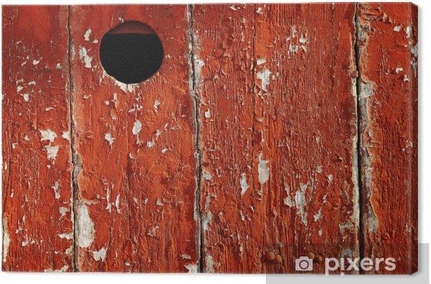Tableau sur toile Porte avec un judas peint en rouge - Europe