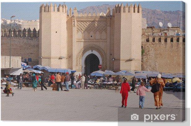 Tableau sur toile Porte de la médina de Fès, Maroc - Afrique