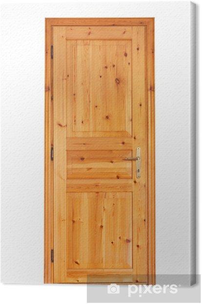 Tableau sur toile Porte en bois interne isolé sur fond blanc - Industrie lourde
