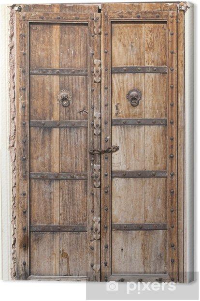 Tableau sur toile Porte vieux bois - Asie