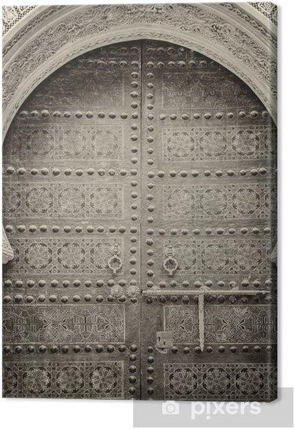 Tableau sur toile Portes anciennes, Maroc - Afrique