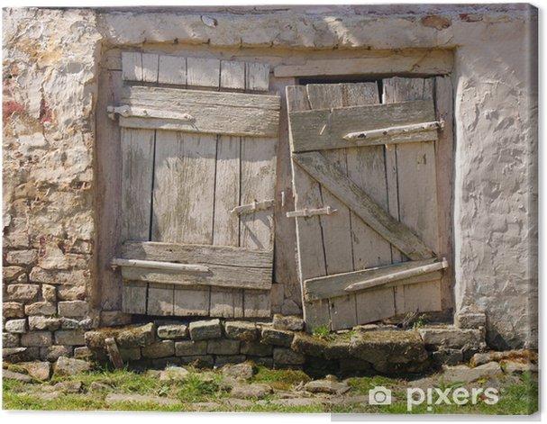 Tableau sur toile Portes blanches anciennes - Propriétés privées