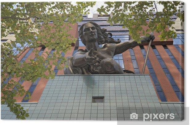 Tableau sur toile Portlandia Statue - Amérique