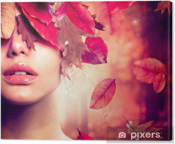 Tableau sur toile Portrait Autumn Fashion Femme. Tomber - Thèmes