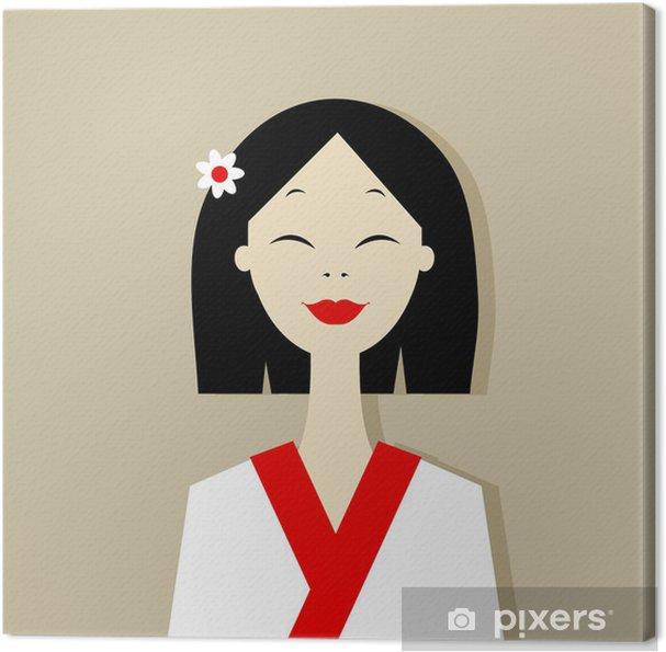 Tableau sur toile Portrait de femme asiatique pour votre conception - Femmes