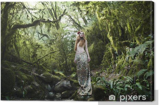 Tableau sur toile Portrait de femme romantique dans la forêt de féerie - Beauté et soins du corps