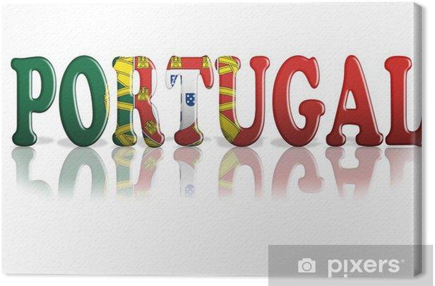 Tableau sur toile Portugal Flag - Criteo