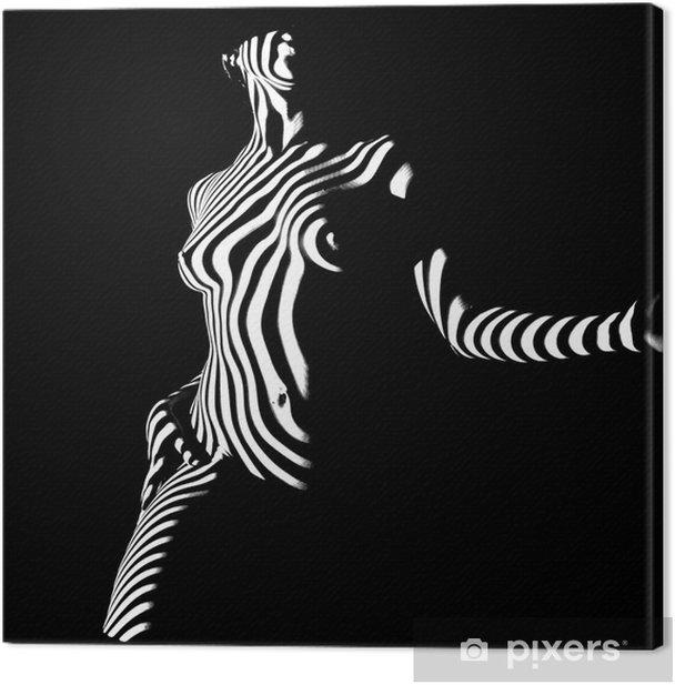 Tableau sur toile Posant dans l'obscurité - Styles