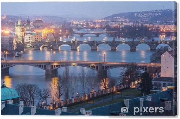 Tableau sur toile Prague au crépuscule - Prague