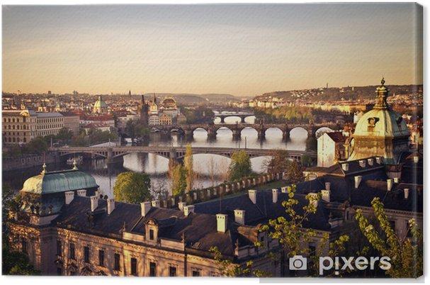 Tableau sur toile Prague au lever du soleil - Prague