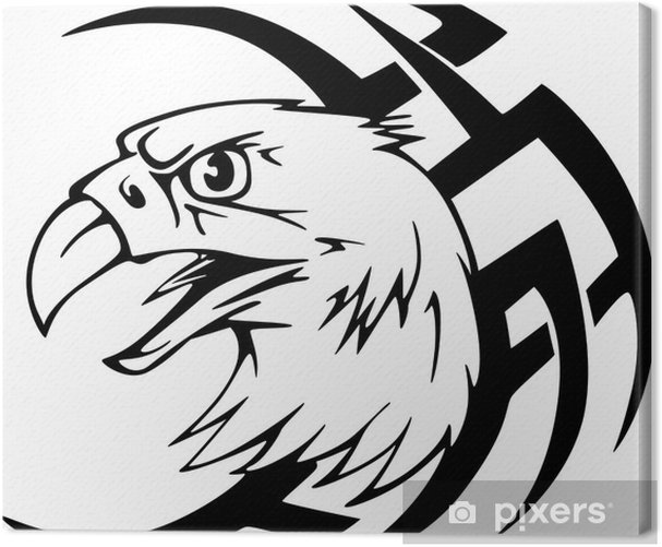 Tableau sur toile Predator tête d'aigle tatouage - Sticker mural