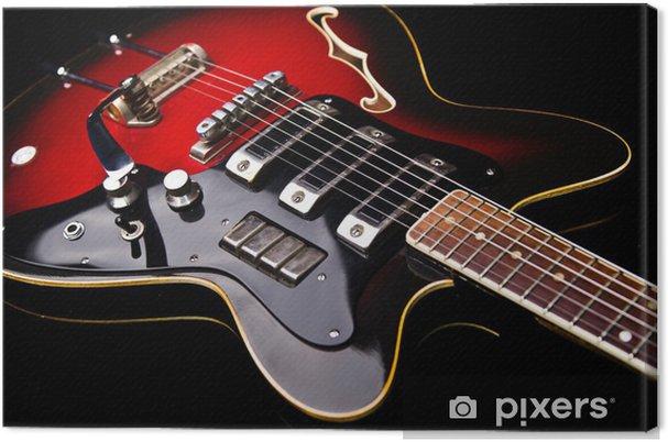 Tableau sur toile Près de musique guitare - Thèmes