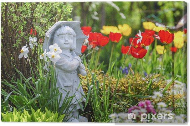 Tableau sur toile Printemps dans le jardin d\'ornement • Pixers ...