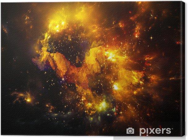 Tableau sur toile Profondeur de nébuleuse - Univers