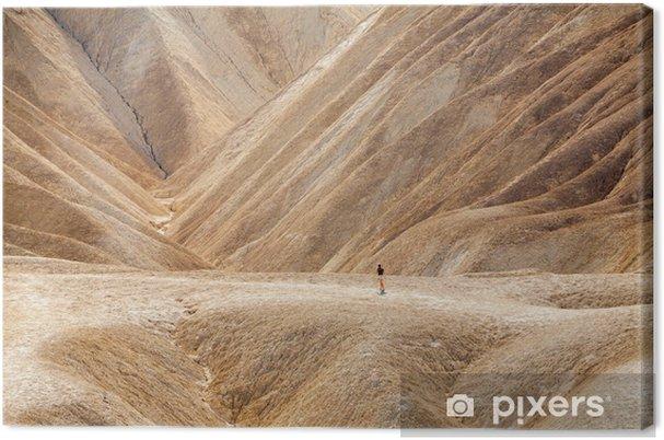 Tableau sur toile Promenade dans Zabriskie Point, Death Valley - Sports d'extérieur