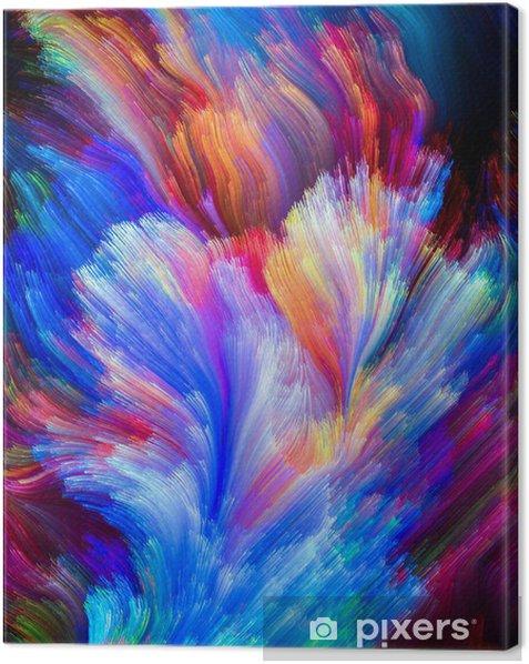 Tableau sur toile Propagation coloré - Merveilles naturelles
