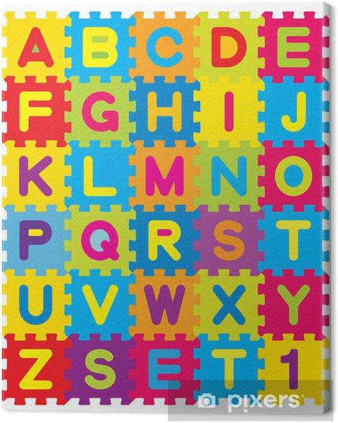 Tableau sur toile Puzzle Alphabet Vecteur - Thèmes