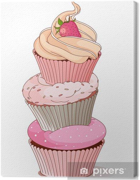 Tableau sur toile Pyramide des petits gâteaux - Célébrations